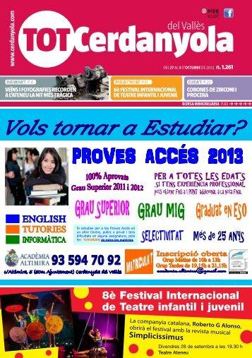 8è Festival Internacional de Teatre infantil i juvenil - Tot Cerdanyola