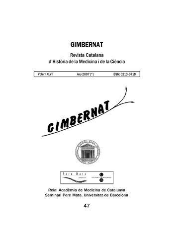 GIMBERNAT 47-ok.p65 - Acadèmia de Medicina de Catalunya