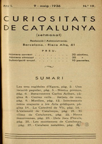 curiositats de catalunya - Dipòsit Digital de Documents de la UAB