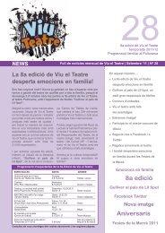 Butlletí núm 28. Setembre de 2011 - Unics Produccions