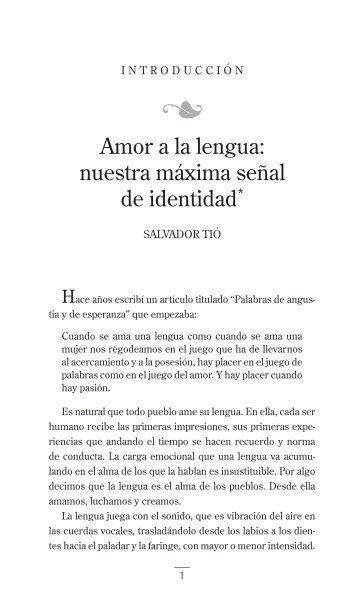 Amor a la lengua - Facultad De Humanidades