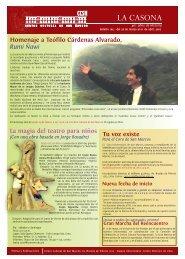 Boletín 165 - Centro Cultural de San Marcos CCSM