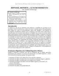 HIPNOSIS, DEPORTE y ALTO RENDIMIENTO