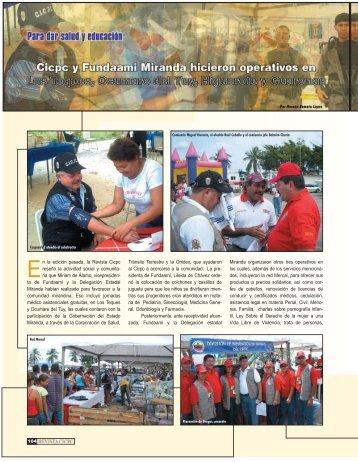 Cicpc y Fundaami Miranda hicieron operativos - Revista CICPC