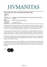 Sobre o sufixo -ellus - Universidade de Coimbra