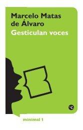 Marcelo Matas de Álvaro Gesticulan voces - Escritores de Asturias