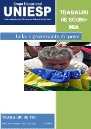 TRABALHO DE ECON DE ECONO-O- MIA Lula: o ... - Uniesp