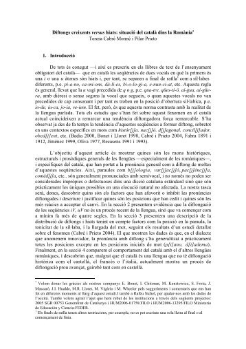 Diftongs creixents versus hiats - Departament de Filologia Catalana ...