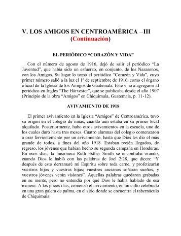 V. Los Amigos en Centro América III - Instituto ALMA