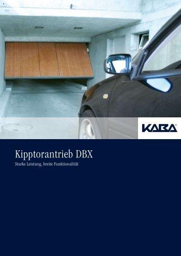 Kipptorantrieb DBX - Meierhofer Garagentore   Torantriebe