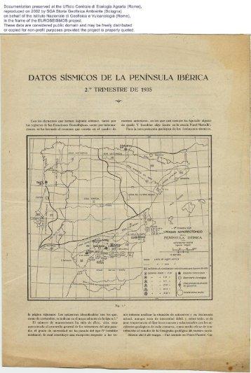 Documentation preserved at the Ufficio Centrele di Ecología ... - Ingv