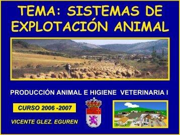 Sistemas de Explotación Animal