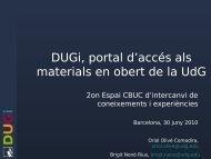 DUGi, el nou sistema de gestió de continguts dels ... - Recercat