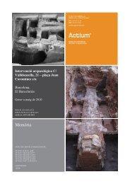 memòria 129-09 - Carta Arqueològica de Barcelona - Ajuntament de ...