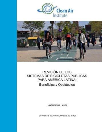 Revisión de los sistemas de bicicletas públicas para América ... - CAI