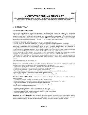 COMPONENTES DE REDES IP - publicaciones de Roberto Ares