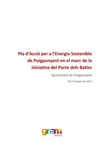 Pla d'Acció per a l'Energia Sostenible de Puigpunyent en el marc de ...