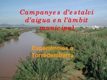 Campanyes d'estalvi d'aigua en l'àmbit - Xarxa en xarxa