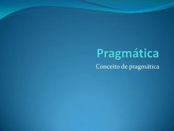 Conceito de pragmática