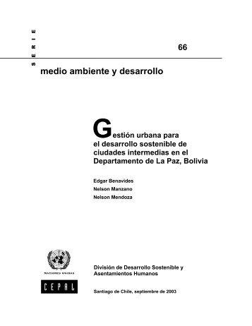 Gestión urbana para el desarrollo sostenible de ciudades ... - Cepal