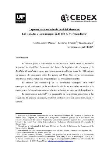 """""""Las ciudades y los municipios en la integración regional"""