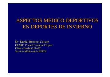 ASPECTOS MEDICO-DEPORTIVOS EN DEPORTES DE INVIERNO