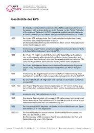 Geschichte des EVS - Ergotherapeutinnen Verband Schweiz