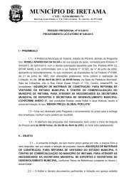 MUNICÍPIO DE IRETAMA