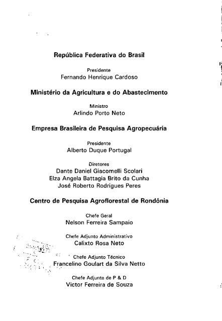 TEIXEIRA, C.A.D. - Embrapa Rondônia