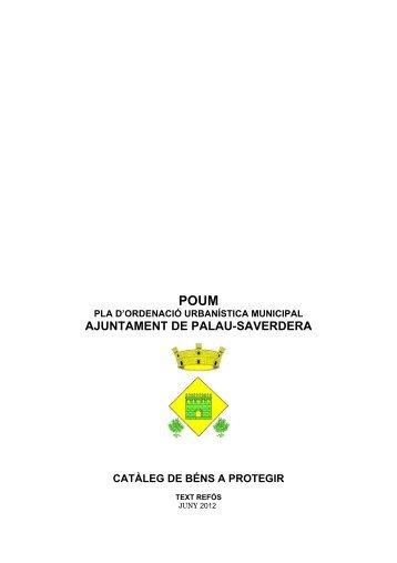 Catàleg de béns a protegir - Ajuntament de Palau-saverdera