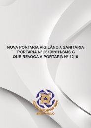 nova portaria vigilância sanitária portaria nº 2619/2011 ... - Sindipan