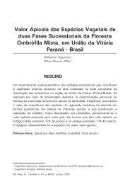 Valor apícola das espécies vegetais de duas fases - Embrapa ...