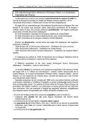 Tema 11. El procés de normativització al segle XX - Aldea Global