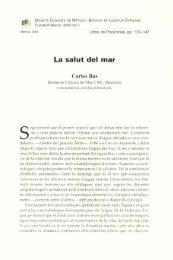 La salut del mar - Institut d'Estudis Catalans