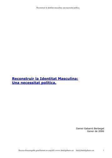 Reconstruir la identitat masculina