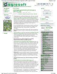 Agrosoft - Embrapa Recursos Genéticos e Biotecnologia