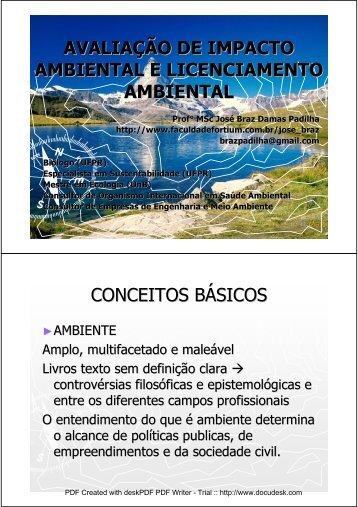 avaliação de impacto ambiental e licenciamento ... - geoplan