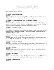 Descripción de cursos (PDF) - Decanato de Estudios Graduados e ...