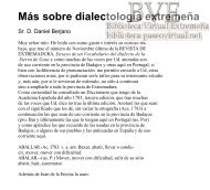 Más sobre dialectología extremeña - Paseo Virtual por Extremadura