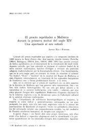 El procés repoblador a Mallorca durant la primera meitat del segle ...