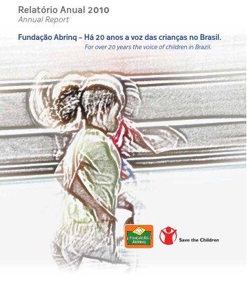 Relatório Anual 2010 - Fundação Abrinq