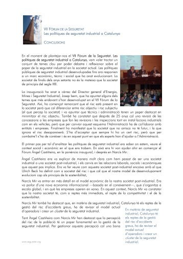 Les polítiques de seguretat industrial a Catalunya - Institut d'Estudis ...