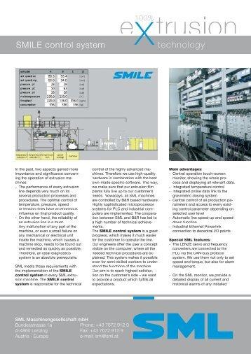 datasheet SMILE control system - SML