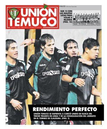 RENDIMIENTO PERFECTO - Unión Temuco