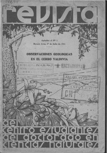 Biblioteca Digital | FCEN-UBA | Holmbergia Nº 5 apendice Revista ...