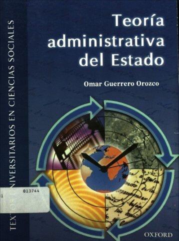 """""""Teoría Administrativa del Estado"""". - Instituto Nacional de ..."""