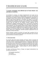 II. Generalitats del sector no lucratiu - Ajuntament de Terrassa
