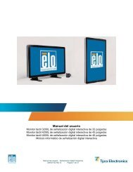 Manual del usuario - Elo TouchSystems