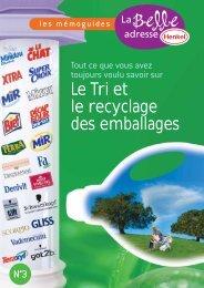 Le Tri et le recyclage des emballages - La Belle Adresse