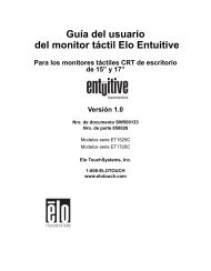 Guía del usuario del monitor táctil Elo Entuitive Para los monitores ...